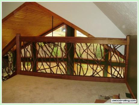 interior laurel railing