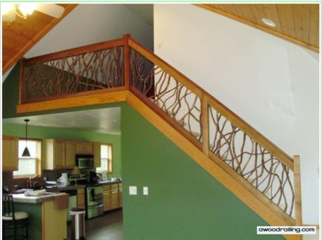 interior mountain laurel stair handrail