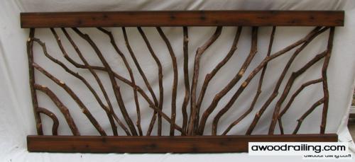 sunburst laurel railing