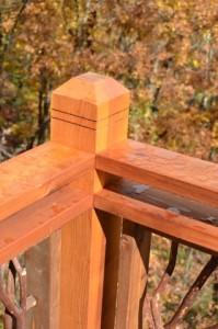 Double Cedar Handrail