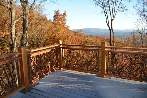 Custom Crafted Wood Railing