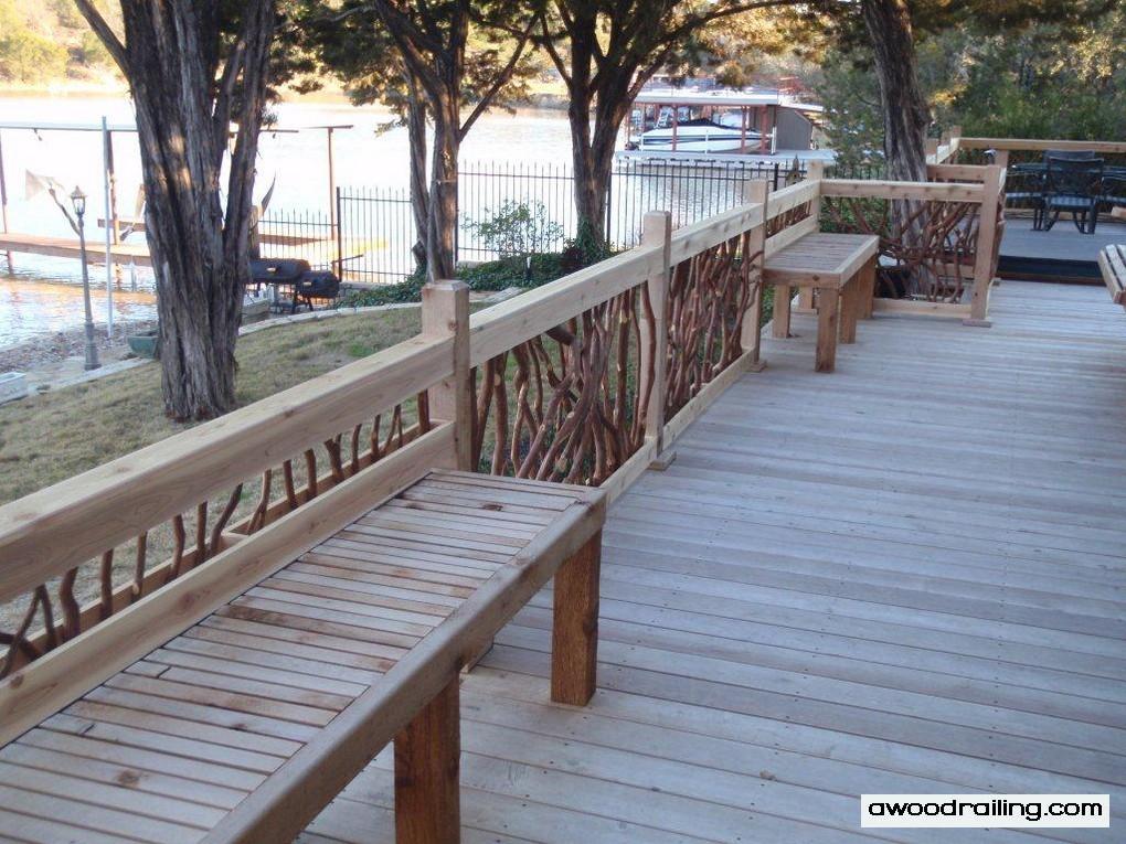Porch Handrail Bench