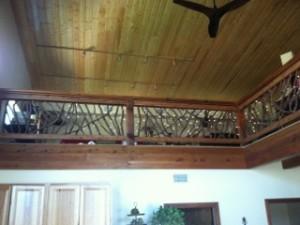 Custom Rustic Balcony Railing