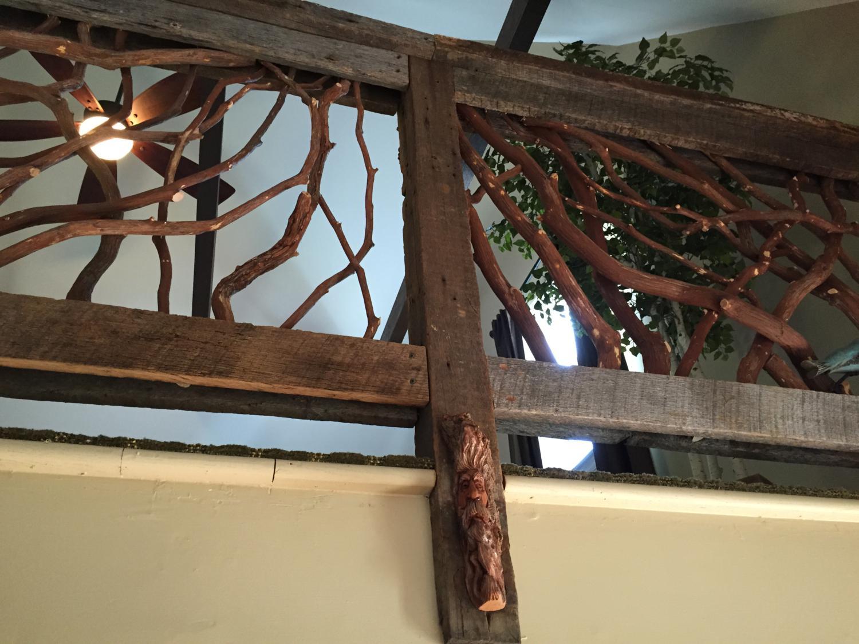Balcony Railing W Carving