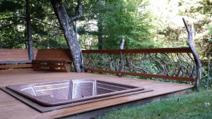 Branch Hot Tub Hand Rails