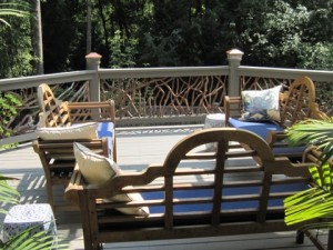 Chairs and Deck Railing
