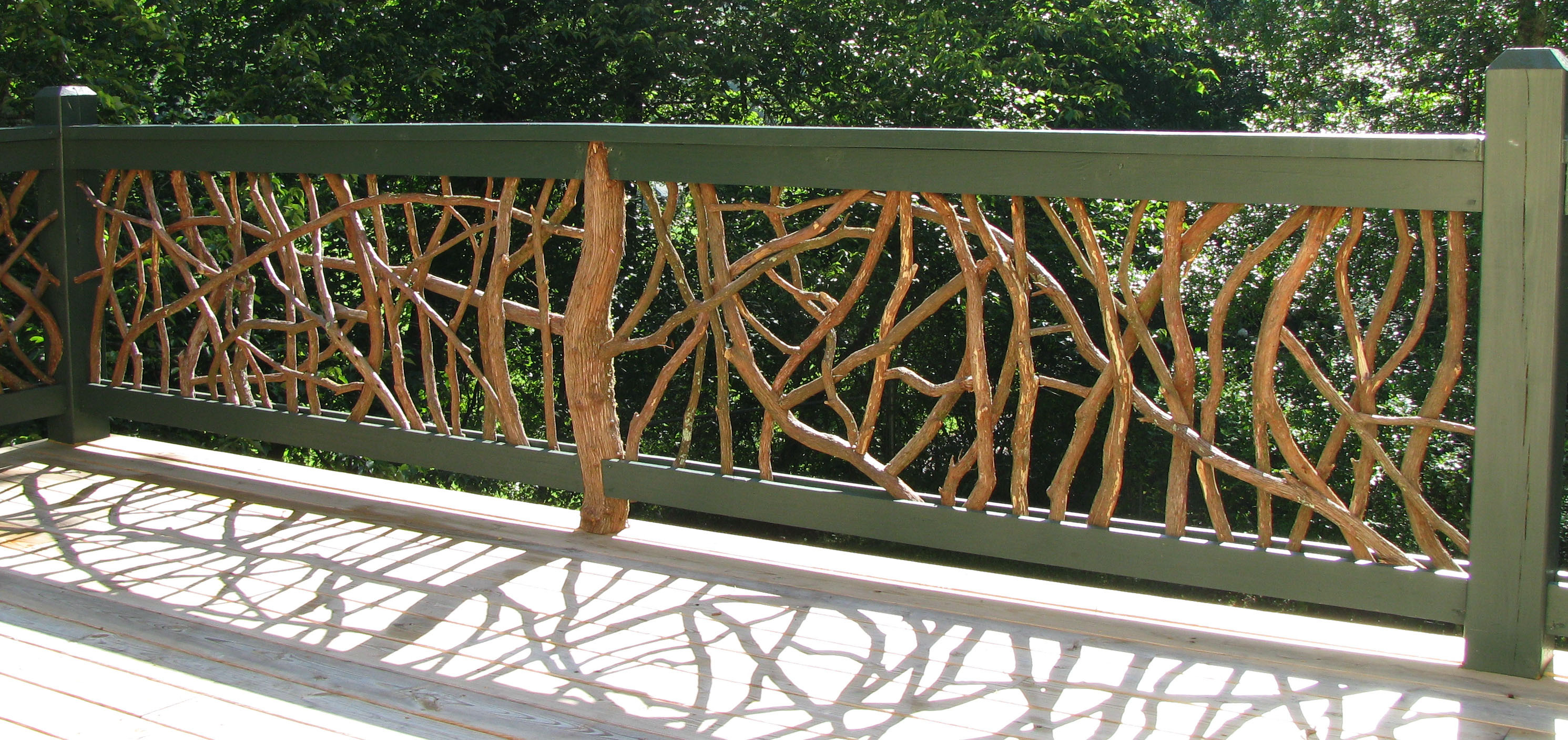 Natural Branch Railing Mountain Laurel Railing