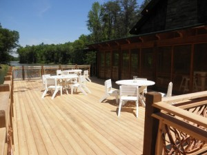 Deck Railings with White Furniture