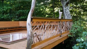 Handrail Hot Tub Deck