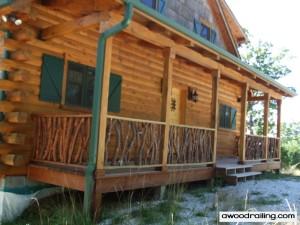 Handrail Log Cabin