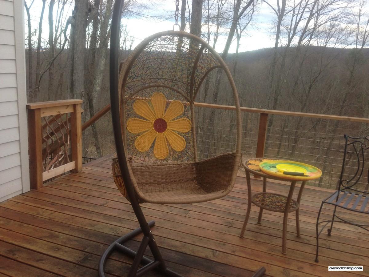 Hanging Chair Deck Railing