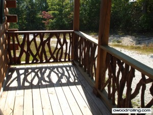 Log Cabin Railing Design