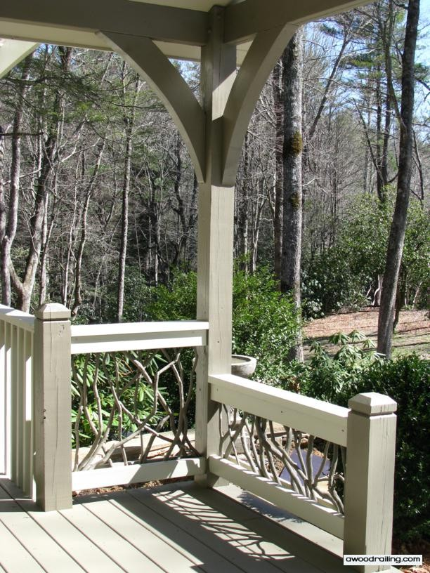 Log Home Wood Railing