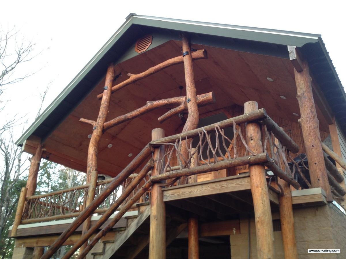 Log Railing Posts