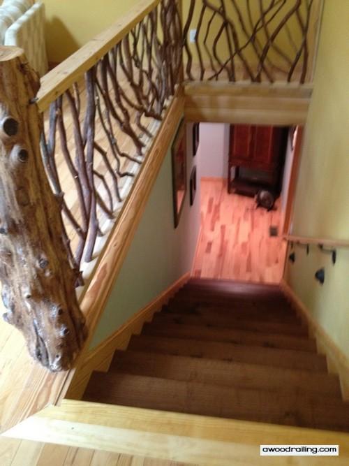 Rustic Stair Railing