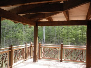 Timber Frame Porch Railing