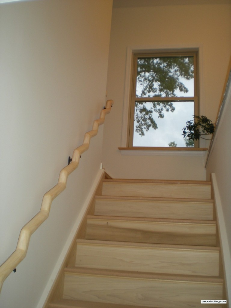 Wood Banister Installed