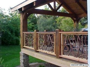 Wood Deck Handrail