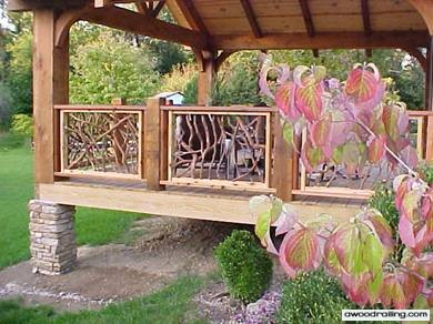 Wood Handrail Leaves