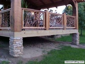 Wood Porch Handrail