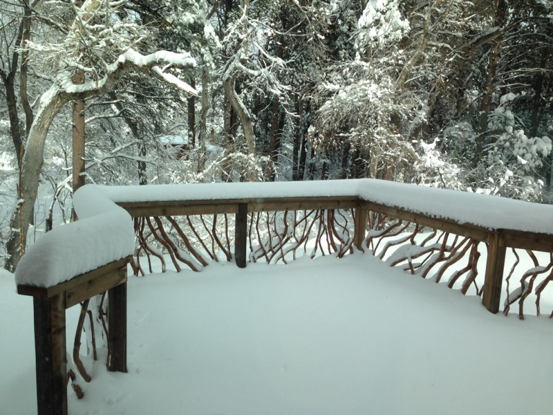 Wyoming Snowy Deck Railing