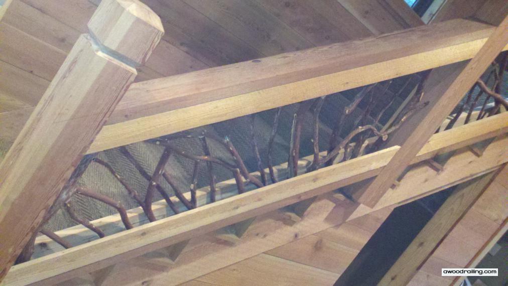 Rustic Mountian Stair Railings: Custom Rustic Stairs Railing